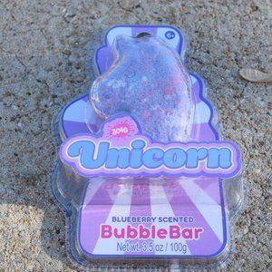 3 Unicorn Blueberry Bath Bubble Bars